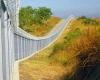 Galvanized border fencing