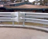 Galvanized guard rail installed